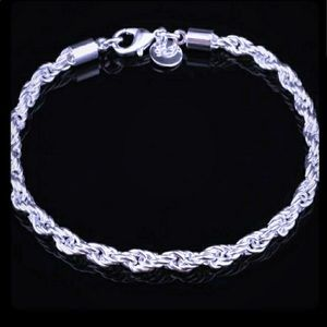 Jewelry - Silver Twisted Rope Chain Bracelet